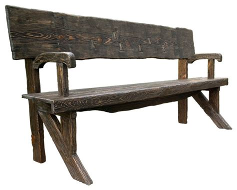 natural wood bench rustic style outdoor bench natural wood finish rustic
