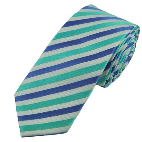 light blue skinny tie light blue turquoise white striped skinny tie from ties