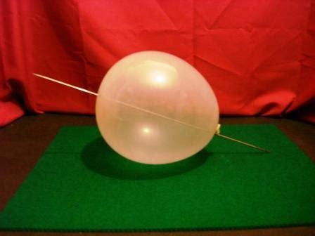 nudo de globo sin esquinas atravesar un globo con una aguja la ciencia en casa