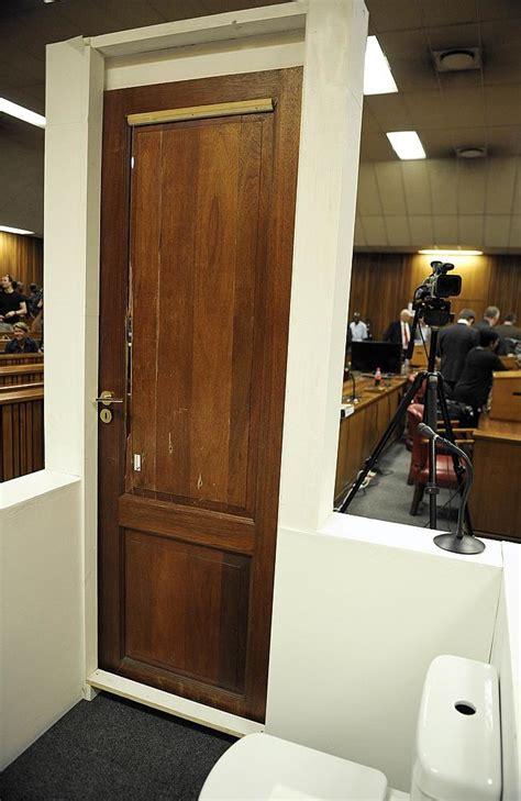 bathroom doors south africa oscar pistorius murder trial toilet door and cricket bat