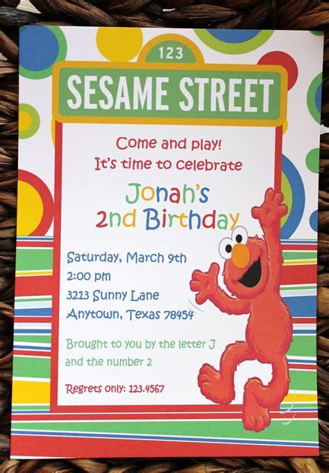 free sesame birthday invitation templates sesame elmo birthday invitations