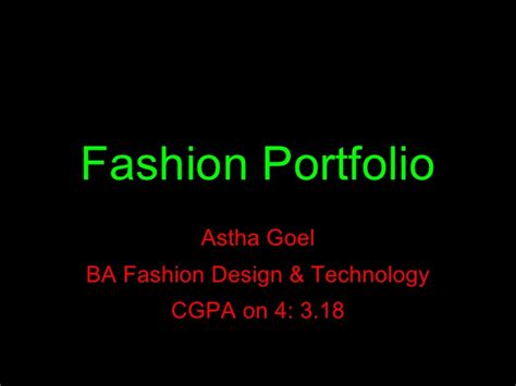 fashion design portfolio sles pdf fashion portfolio astha goyel
