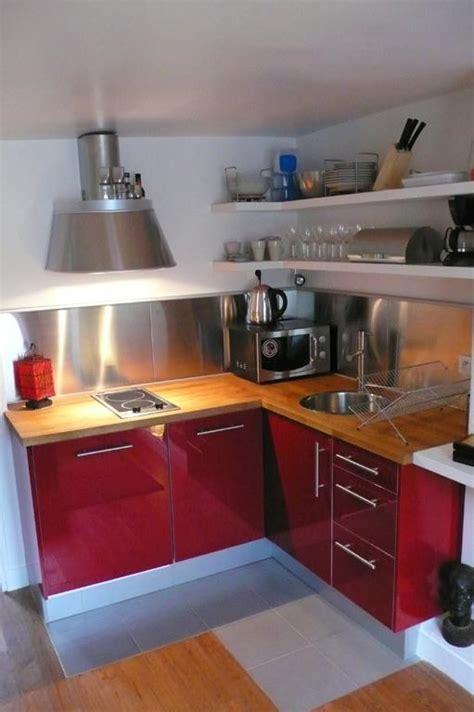 petites cuisines 駲uip馥s cuisine et blanche avw concept photo n 176 77