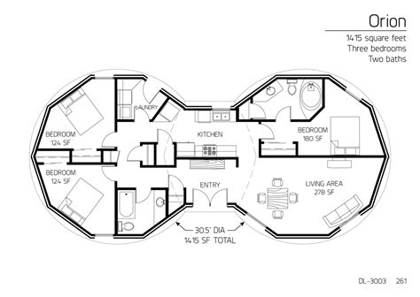 dome homes floor plans floor plan dl 3003 monolithic dome institute