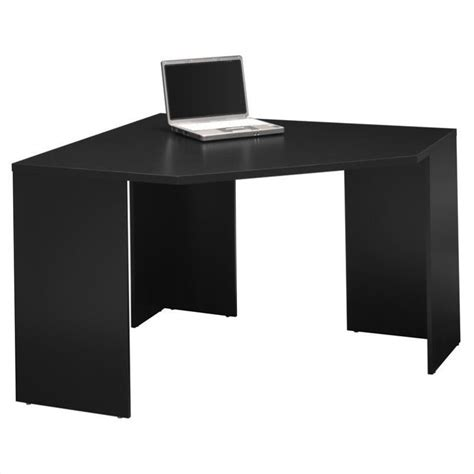Bush Myspace Stockport Wood Corner Desk In Black My62902 03 Corner Black Computer Desk
