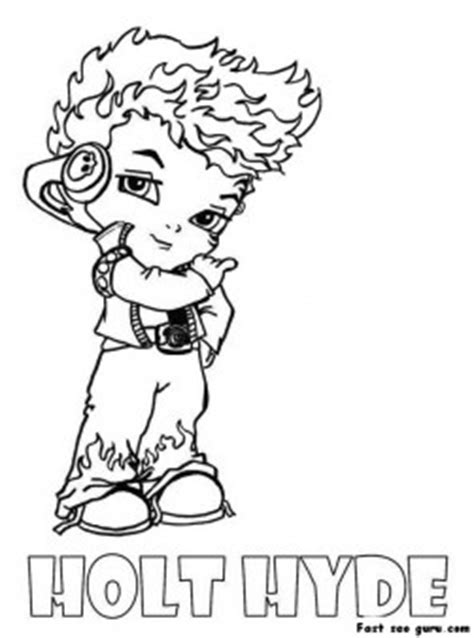 little monster high coloring pages holt hyde little boy monster high coloring page