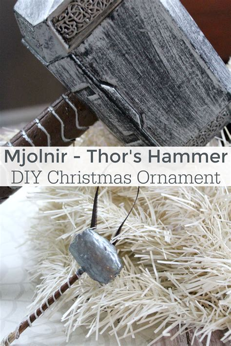 hammer ornament diy thor hammer ornament mommadjane