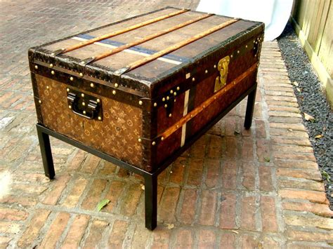 steamer trunk bench antique louis vuitton cabin trunk coffee table steamer
