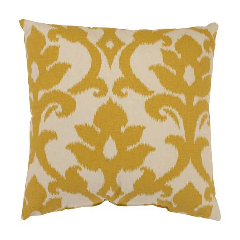 Accent Pillows Azzure Gold Square Throw Pillow
