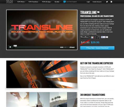 final cut pro video effects transline 3d line transitions for final cut pro x