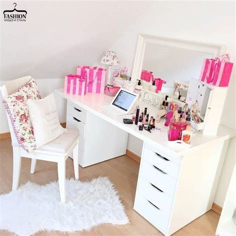 blush pink desk l linnmon alex white ikea