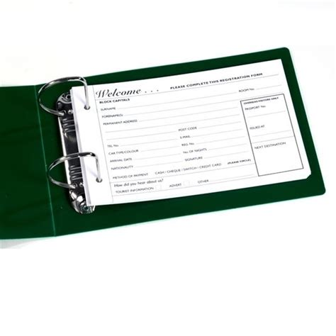 guest registration cards binder and storage box