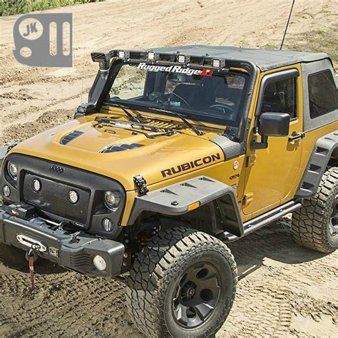 jeep jk flat fender flares hurricane flat fender flare kit from rugged ridge fits
