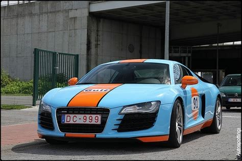 audi r8 wrapped audi r8 gulf wrapped gulf livery cars