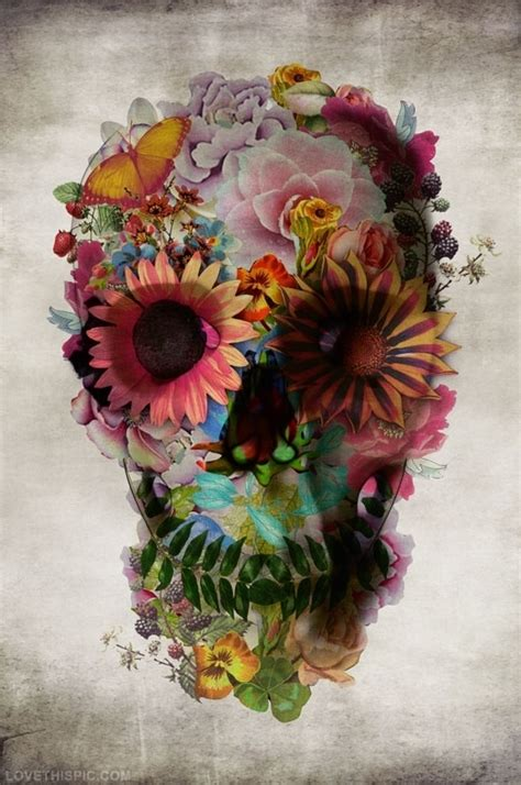 Flower Skull floral skull pictures photos and images for