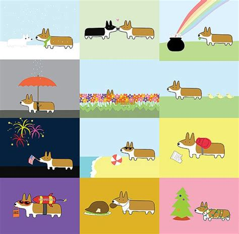 corgi desk calendar 12 months of corgis desk calendar 2015 desks wall
