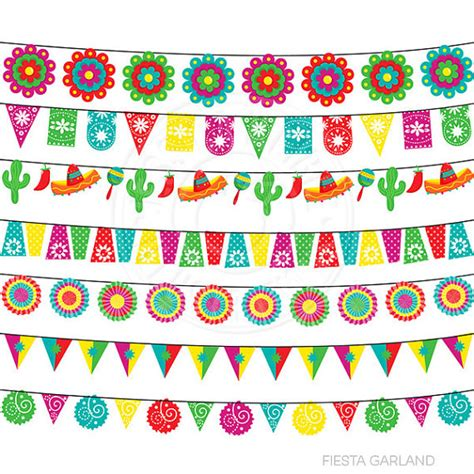 festa clipart garland digital clipart for invitations card
