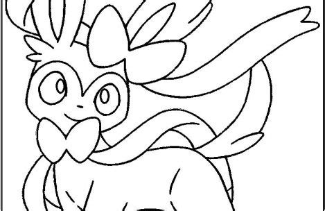 pokemon coloring pages sylveon pokemon coloring pages eevee evolutions sylveon just