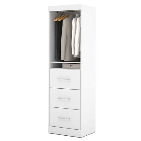 Closet Drawer Unit by Bestar Nebula 25 Quot Storage Unit With 3 Drawer Set In White