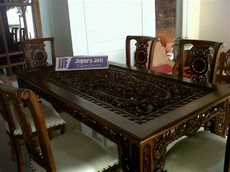 Meja Makan Salina kursi meja makan salina ukiran krawang jepara jati furniture