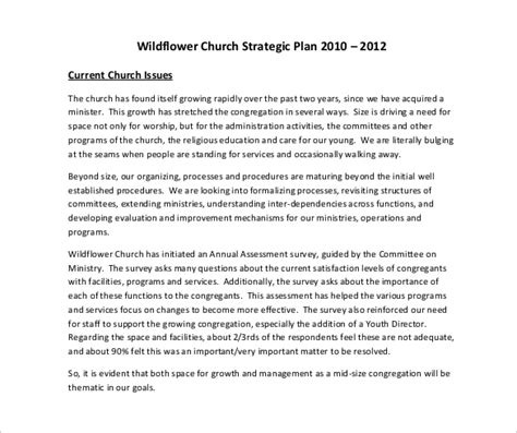 church business plan template church strategic plan template 10 free links