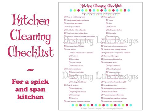 Small Kitchen Organization Ideas by Kitchen Cleaning Checklist Pdf Printable Home Management