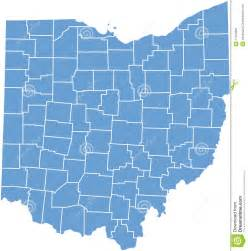 state map image ohio state map by counties stock photo image 11564290