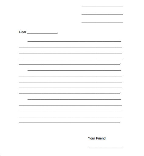 friendly letter template pdf sle friendly letter format 8 free documents in pdf word