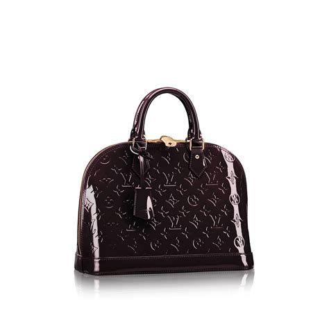 Louis Vuitton Alma Vernis Collection by Alma Pm Monogram Vernis Leather Handbags Louis Vuitton
