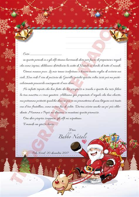 lettere di risposta lettera da per babbo natale lettera risposta di babbo