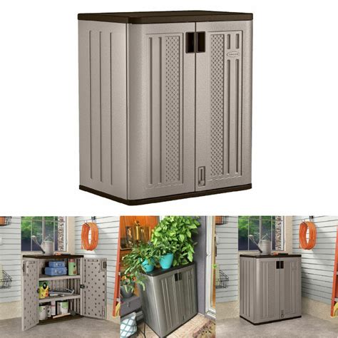small outdoor storage cabinets suncast lawn yard patio - Patio Storage Cabinets