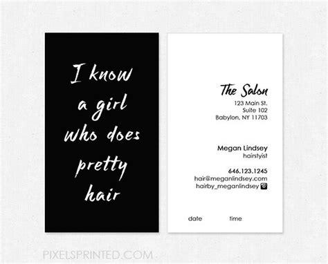 Hair Stylist Business Card Ideas