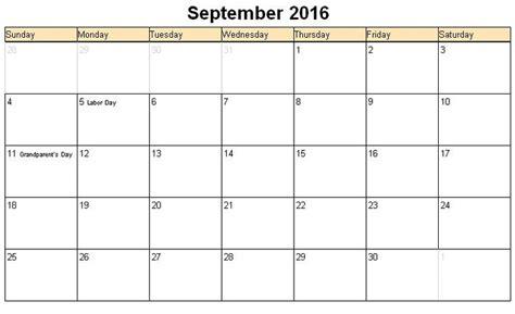 Calendar For September September 2017 Printable Calendar Blank Templates
