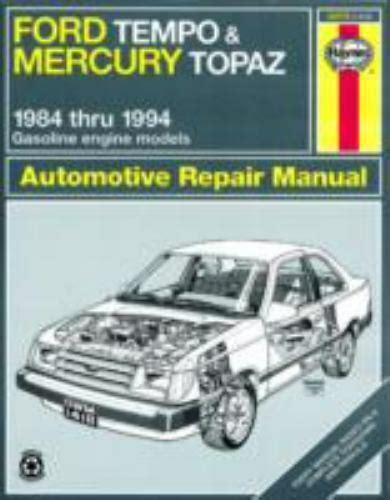 service repair manual free download 1984 mercury topaz regenerative braking ford tempo mercury topaz 1984 94 repair manual book free