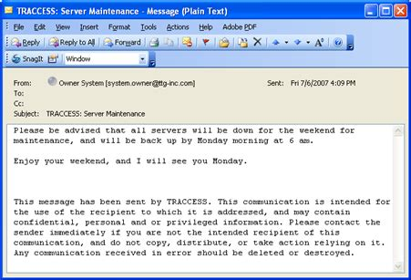 messaging feedback email samples