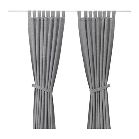 Ikea Lenda Curtains Ideas Lenda Curtains With Tie Backs 1 Pair Gray Room Lights And Bedrooms