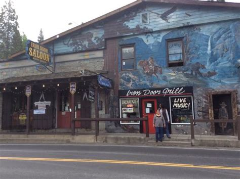 the facade picture of iron door saloon and grill