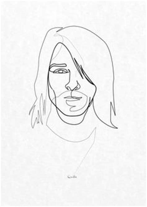 kurt cobain stencil template nirvana tattoo kurt cobain