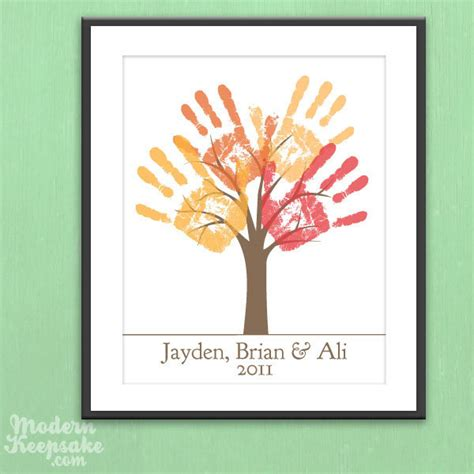 diy printable family tree diy personalized child s handprint tree printable pdf by