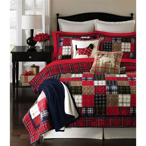 Plaid Patchwork Quilt - martha stewart collection plaid patchwork quilt bedding