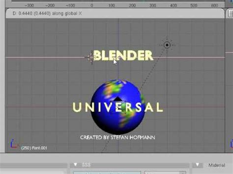 blender tutorial universal logo tutorial universal studios intro hd doovi