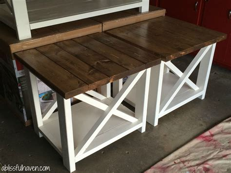 bedroom end table plans diy farmhouse end tables diy projects diy