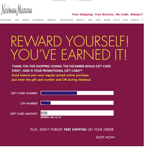 Neiman Gift Card - neiman marcus gift cards arriving from amex deal check your email points and
