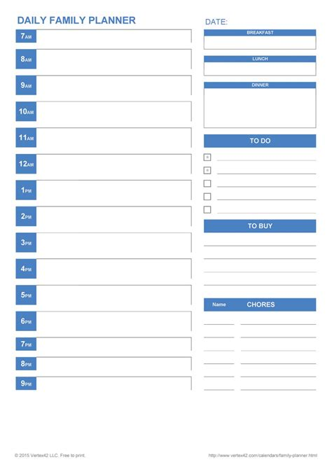 template free 40 printable daily planner templates free template lab