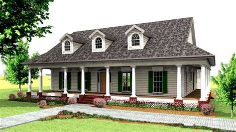 Fashioned Farmhouse Plans by Country House Plans With Porches Country House Floor