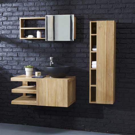 meubles pour salle de bain meuble pour salle de bain suspendu meubles en teck typo tikamoon