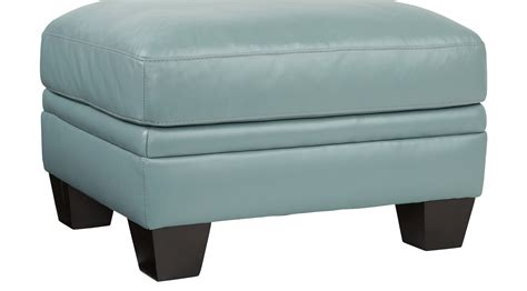 blue leather chair with ottoman 349 99 marcella spa blue leather ottoman contemporary