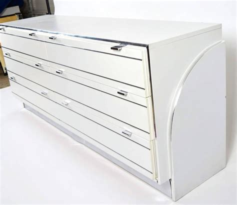 White Laminate Dresser by One Rougier Dresser Or Cabinet In White Laminate And