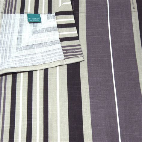 khaki and white striped curtains target home purple stripe khaki plum fabric shower curtain