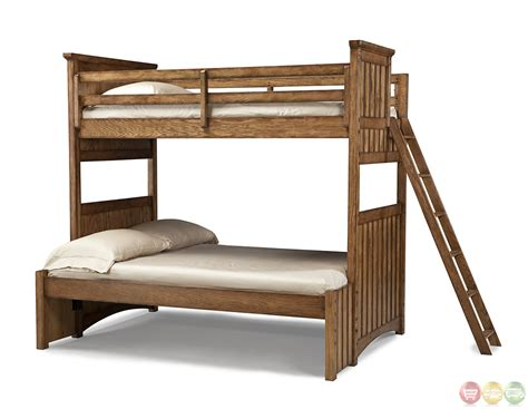 Timber Bunk Bed Timber Lodge Worn Khaki Youth Bunk Bed